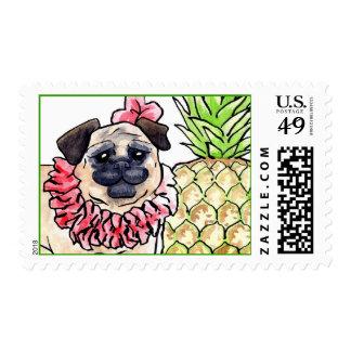 Tropical Pug Postage