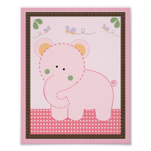 Tropical Punch/Elephant Nursery Art Poster