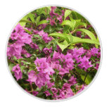 Tropical Purple Bougainvillea Ceramic Knob