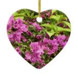 Tropical Purple Bougainvillea Ceramic Ornament