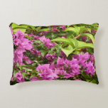 Tropical Purple Bougainvillea Decorative Pillow