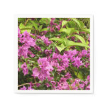 Tropical Purple Bougainvillea Napkin