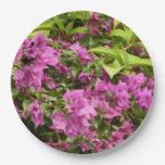 Tropical Purple Bougainvillea Paper Plate