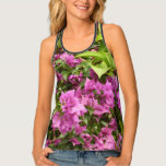 Tropical Purple Bougainvillea Tank Top