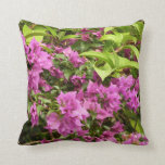 Tropical Purple Bougainvillea Throw Pillow