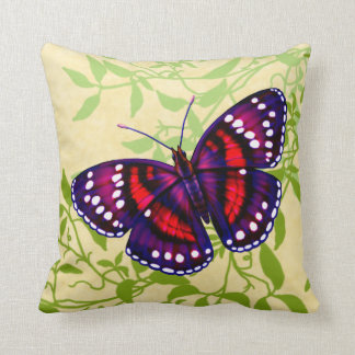 Tropical Purple Butterfly Pillow