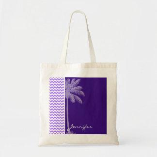 Tropical Purple Chevron Budget Tote Bag