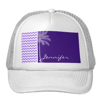 Tropical Purple Chevron Hat