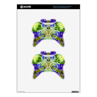 Tropical Purple Green Artistic Abstract Xbox 360 Controller Skins