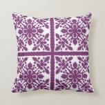 """Tropical Purple Hawaiian Quilt 20""""x20"""" Pillow"""