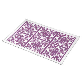 Tropical Purple Hawaiian Quilt Placemat