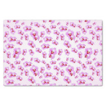 Tropical Purple Orchid Floral Photography Pattern Tissue Paper