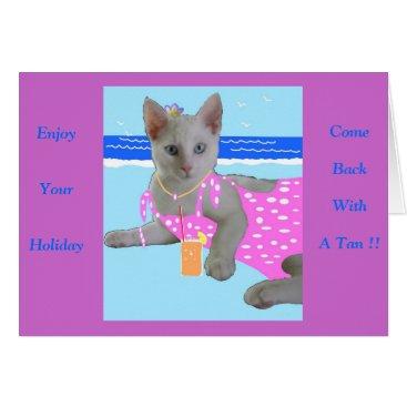 Beach Themed Tropical Puss Card