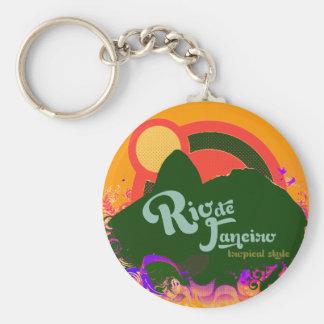 Tropical r.j. keychain