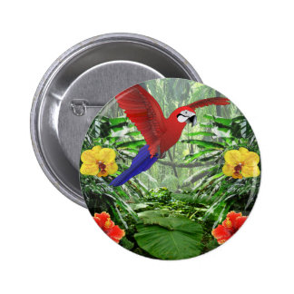 Tropical Rain Forest 2 Inch Round Button