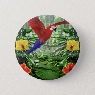 Tropical Rain Forest Pinback Button