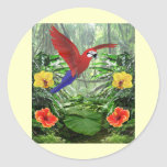 Tropical Rain Forest Round Stickers