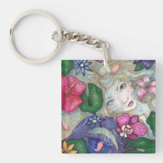 """Tropical Rain"" mermaid fantasy keychain"