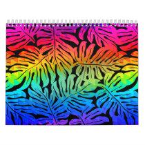 Tropical rainbow calendar