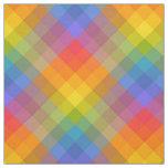 Tropical Rainbow Gingham Fabric