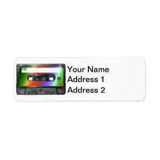 Tropical Rainbow Label Cassette