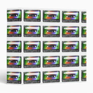 Tropical Rainbow Label Cassette Binder