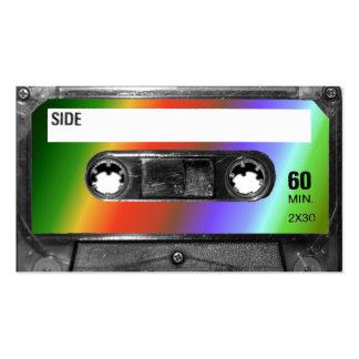 Tropical Rainbow Label Cassette Business Card