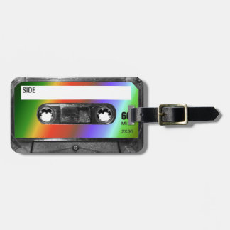 Tropical Rainbow Label Cassette Tag For Luggage