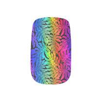 Tropical rainbow minx nail art