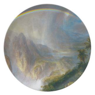 Tropical Rainbow Painting Dinner Plate