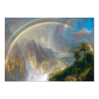 "Tropical Rainbow Painting Invitations 5"" X 7"" Invitation Card"