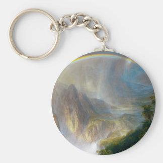 Tropical Rainbow Painting Key Chain