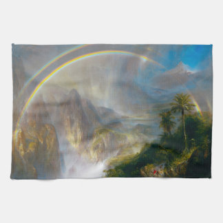 Tropical Rainbow Painting Kitchen Towel