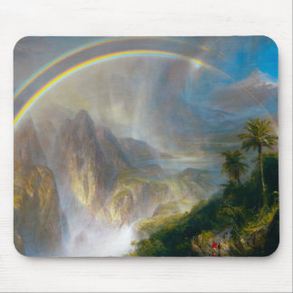 Tropical Rainbow Painting Mouse Pad