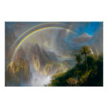 Tropical Rainbow Painting Poster