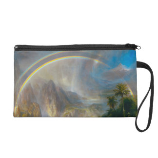 Tropical Rainbow Painting Wristlet
