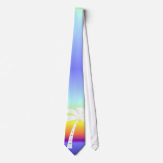 Tropical Rainbow Palm Tree Neck Tie