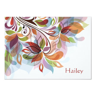 Tropical Rainbow Personalized Stationery Notecard 4.5x6.25 Paper Invitation Card