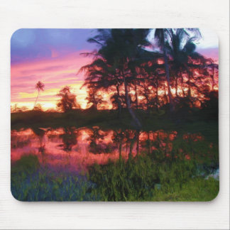 Tropical Rainbow Sunset Mouse Pad