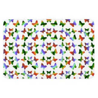 Tropical Rainbow Swirl Butterflies Magnets