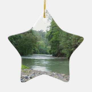 Tropical Rainforest and River Ceramic Ornament
