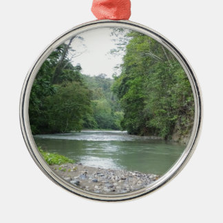 Tropical Rainforest and River Metal Ornament