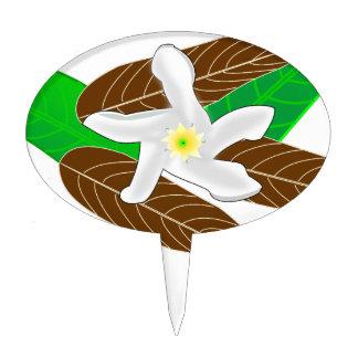 Tropical Rainforest Flower Cake Topper