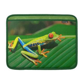 Tropical rainforest green red-eyed tree Frog MacBook Air Sleeve