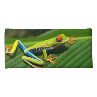 Tropical rainforest green red-eyed tree Frog Pencil Case