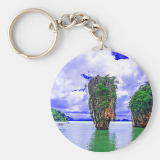 Tropical Rainforest Island Cliffs Keychain