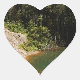 Tropical Rainforest of Tambrauw Moutains Heart Sticker