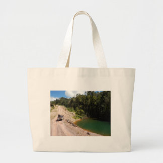 Tropical Rainforest of Tambrauw Moutains Large Tote Bag