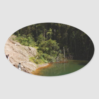Tropical Rainforest of Tambrauw Moutains Oval Sticker
