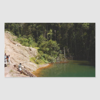 Tropical Rainforest of Tambrauw Moutains Rectangular Sticker